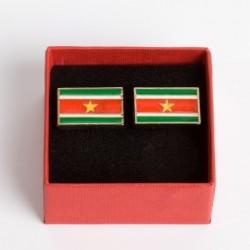 "Manchetknopen Suriname ""Vlag"""