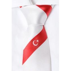 Türkei Krawatte (weiß)