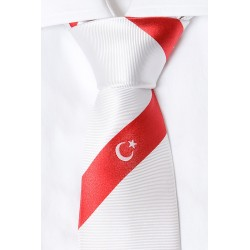 Turkish necktie (white)
