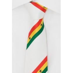 Corbata de Ghana  (blanca)