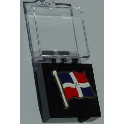 Pins mit dem Flagge von Dominikanische Republik.
