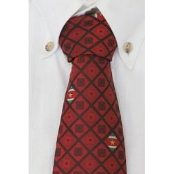 Suriname corbata rojo oscura