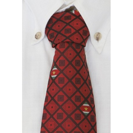 Suriname necktie darkred