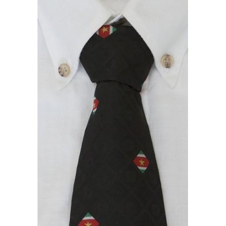 Surinaamse zwarte stropdas (Diamant Collectie)