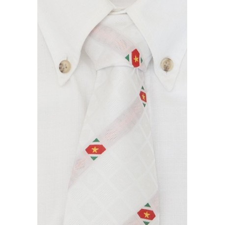 Surinamese necktie white (Diamant Collection)