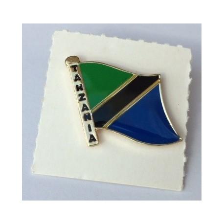 Pin with the flag Tanzania
