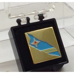 Pins mit dem Flagge von Aruba.