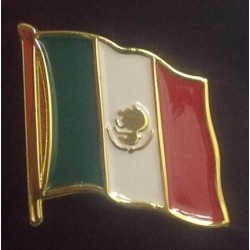 Pin with the flag and shape of Suriname