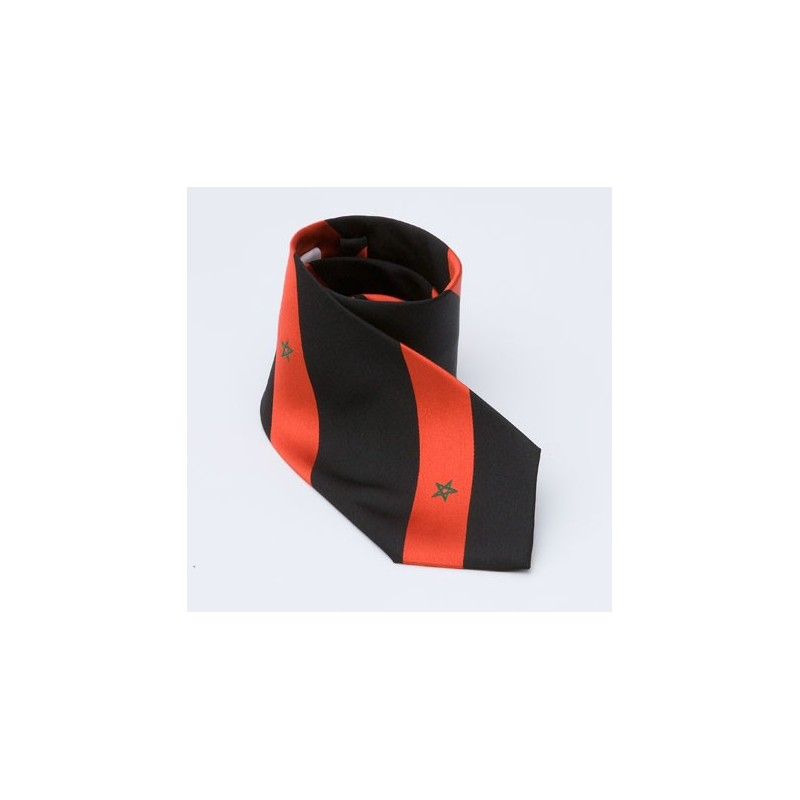black neck tie
