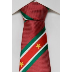 Suriname tie darkred