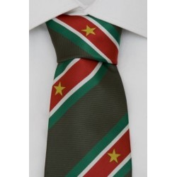 Suriname Krawatte dunkelgrün