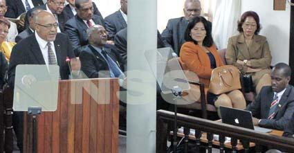 Surinaamse president in het parlement
